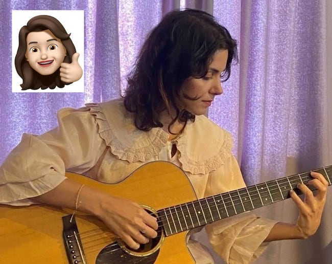 katie and guitar